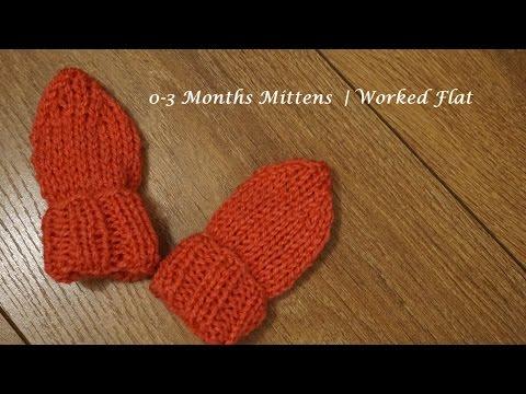 0-3 Months Mittens | Worked Flat