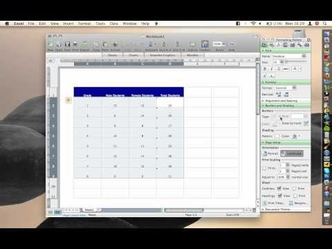 Office For Mac - Excel - Borders (printing borders)
