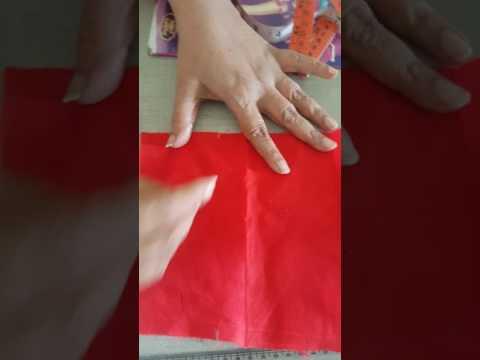 Doll frock cutting
