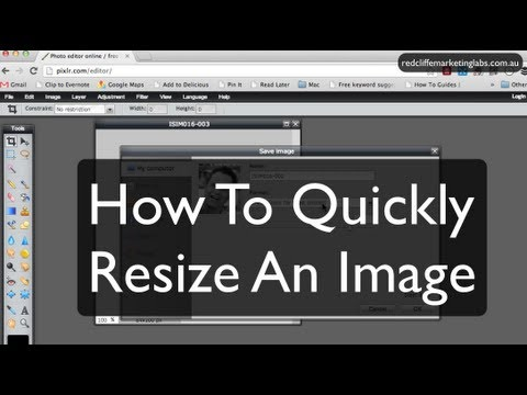 How To Resize An Image Using Pixlr.com | Redcliffe Marketing Labs