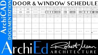 +p +w archicad tutorial house detailing - door & window schedule