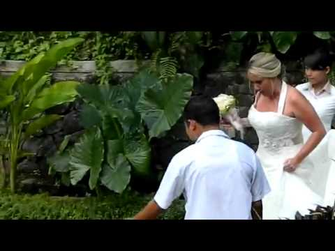 British couple getting married in Bali