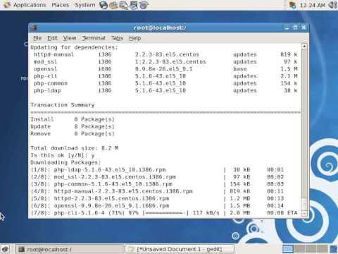 Install DNS Server, WEB Server, Mail Server on CentOS 5.4