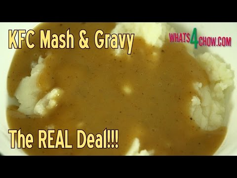 KFC Mash & Gravy - How to Make KFC Mash & Gravy at Home!!! The REAL Deal!!!