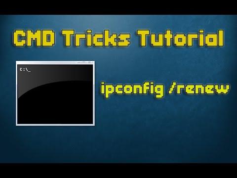 CMD Tutorial - 6 - ipconfig /renew    How to release & renew IP Address using cmd