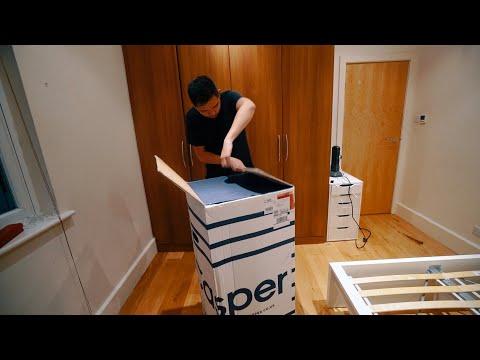 TIME TO GET BETTER SLEEP! CASPER MATTRESS UNBOXING & IKEA MALM BED BUILDING