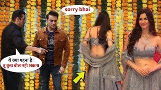 Salman Khan Feel Uncomfortable & angry on Arbaaz Khan GF Dress on Dipawali Party 2019 | All Celebs