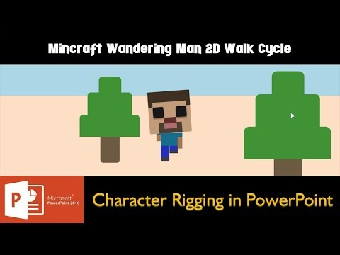 Wandering Man Animation | Character Rigging in Microsoft PowerPoint 2016