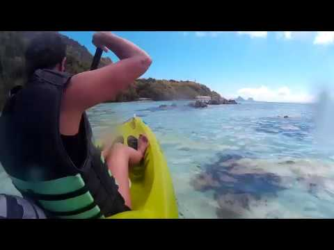 Apulit Island Palawan relaxing canoeing