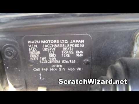 How to find your Isuzu paint code.