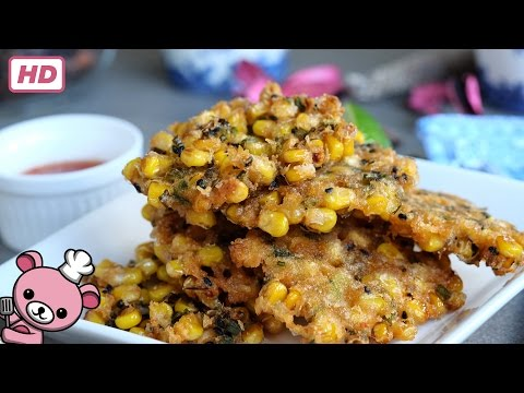 How to make - Crunchy Corn Fritters (video)