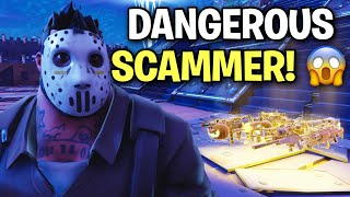 Download I just met a VERY Dangerous Scammer! 😱😳 (Scammer Get Scammed) Fortnite Save The World Video