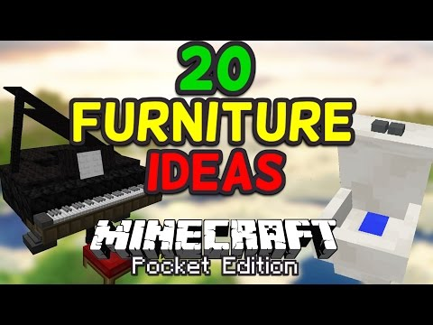 20 Cool Furniture Ideas for Minecraft PE (Pocket Edition)
