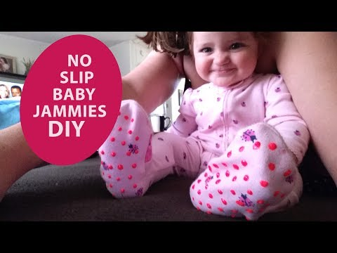 DIY No slip baby pajamas