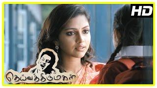 Deiva Thirumagal Tamil movie | scenes | Amala Paul intro and she becomes friends with Sara | Vikram