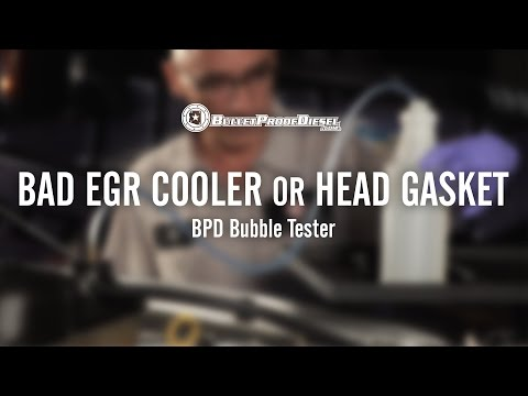 Bad EGR Cooler or Head Gasket; 6.0L Power Stroke