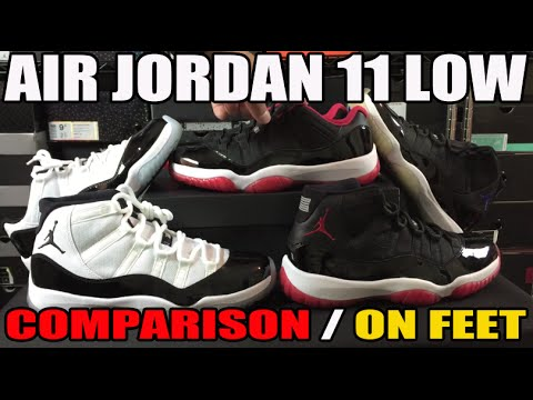 Air Jordan 11 BRED Low vs High Comparison & On Feet Review