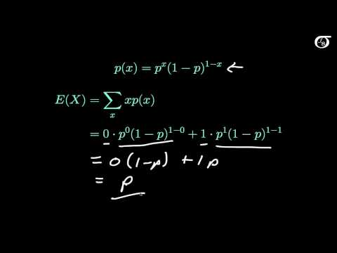 The Bernoulli Distribution: Deriving the Mean and Variance