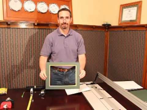 Cutting a double picture frame mat