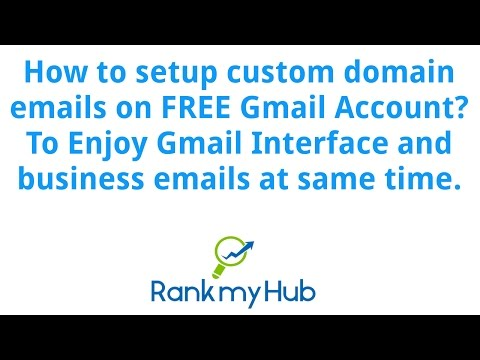 How to setup custom domain emails on Gmail Account
