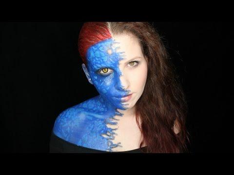 X-Men Makeup Tutorial | Mid-Transformation Mystique | Grin and Dagger