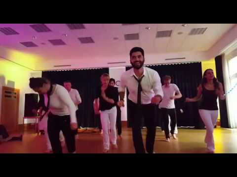Persian dance with German guys music by Sasy Mankan