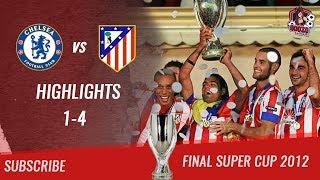 🏆 2012 - Final Supercup 🏆 Chelsea FC vs Atlético de Madrid 1-4 All Highlights & Goals| HD