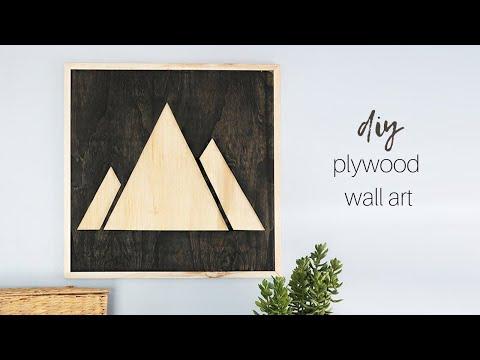 DIY Plywood Wall Art | Mountain Artwork
