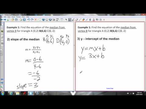 2.1 Median of a Triangle