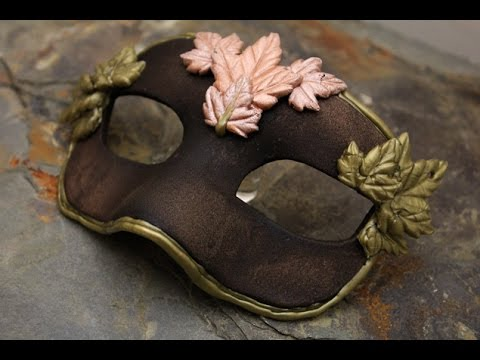 DIY Gold Leaf Masquerade Mask