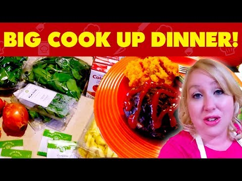 LARGE FAMILY HELLO FRESH BIG COOK UP DINNER!