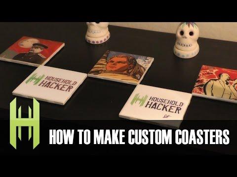 DIY Custom Drink Coasters!