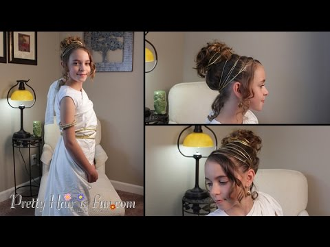 How To: Halloween Greek Goddess Costume /Hairstyle |Pretty Hair is Fun