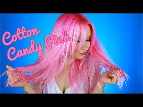 Manic Panic Cotton Candy Pink hair tutorial