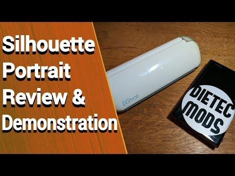 Silhouette Portrait vinyl cutter review & demonstration