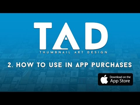 TAD (The Album Art App) -  How To Use In App Purchases