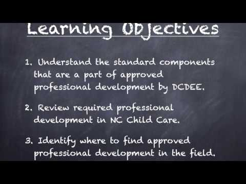 Professional Development Requirements for NC Early Childhood Educators