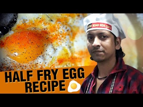 How To Make Half Fry Egg | Half Fry Egg Recipe | Road Side Chef