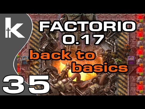 Factorio 0 17 | Back To Basics Ep 35 | Rocket Launch and Base Tour