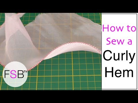 Sewing a Curly Hem Using Fishing Line