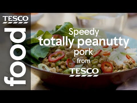 Speedy peanut pork with jasmine rice | Tesco Food