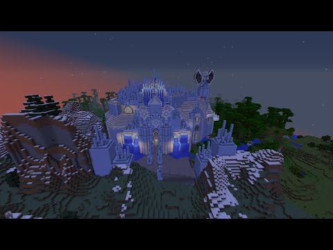 BUILDING AN AMAZING ICE CASTLE IN MINECRAFT
