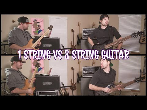 1 string vs 8 string guitar