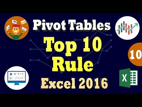 Excel 2016 PivotTable: Conditional Formatting In Pivot Tables - Top 10 Rule