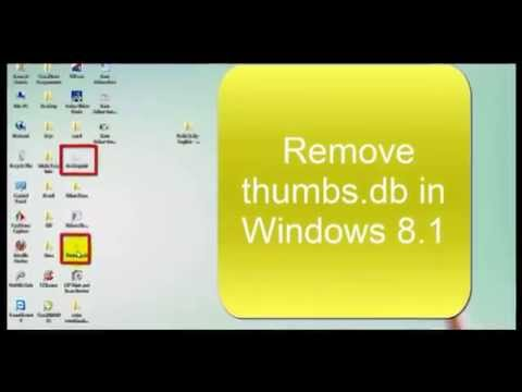 Remove thumbs db and  Ini files Windows 7,8,8 1
