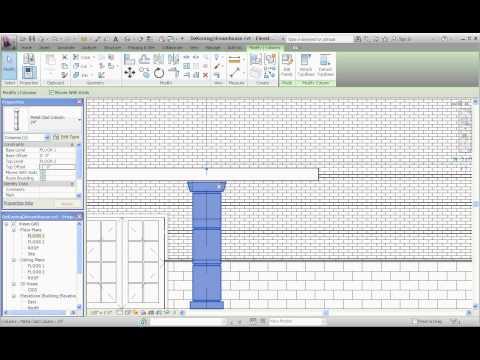 Revit Architecture, Architectural Columns Part 4, Making Modifications