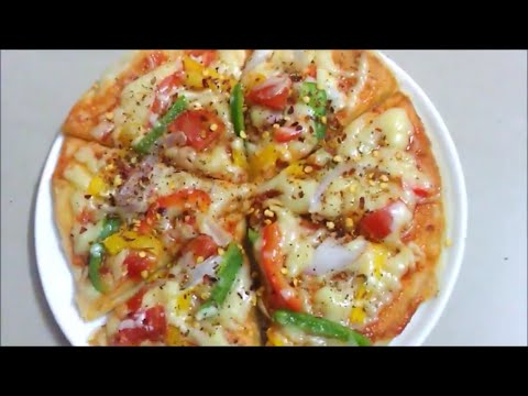 Cheese Burst Pizza on Pan or Tawa | How to Make Pizza Without Oven