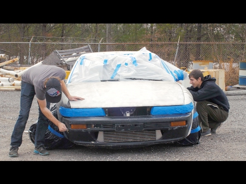 Nissan 240sx $100 Paint Job- How to Spray Paint a Car Properly