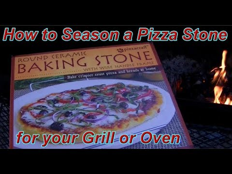 Seasoning a Pizza Baking Stone for the Grill