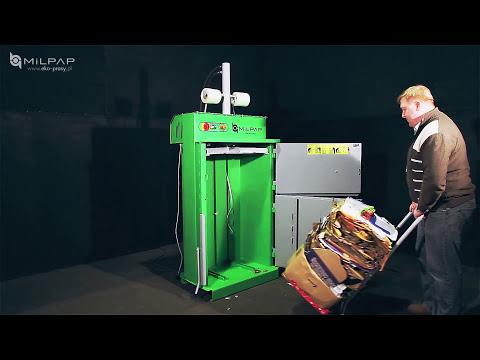Small Cardboard Waste, Cardboard, Paper, Plastic BALER COMPACTOR RECYCLING MACHINE